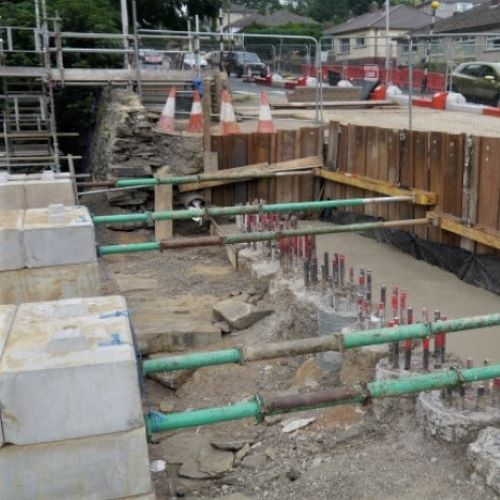 Oakworth Road Keighley - Bored Pile Retaining Wall & Restraint Parapet