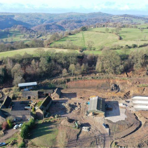 Wakebridge Farm Crich Derbyshire - Ground Investigation & Slope Retention