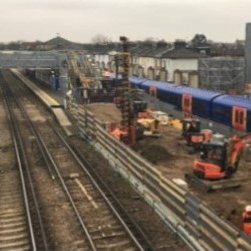 Twickenham Station - Bearing Pile & Retaining Wall Design