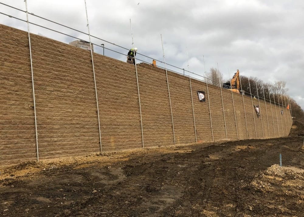 Scotswood, Newcastle Upon Tyne - Reinforced Soil Retaining Wall