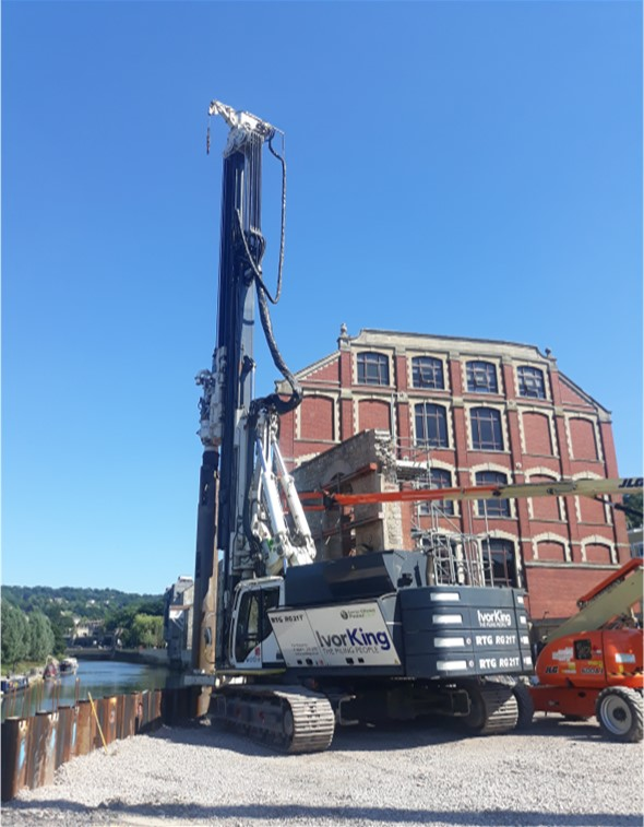 Bath Quays - Steel Bearing Pile and Retaining Wall Design